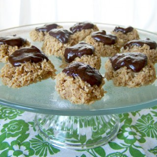 Chocolate Frosted Coconut Cookies