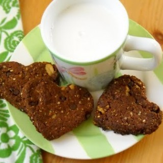 Chocolate Monster Cookies gluten-free, egg-free