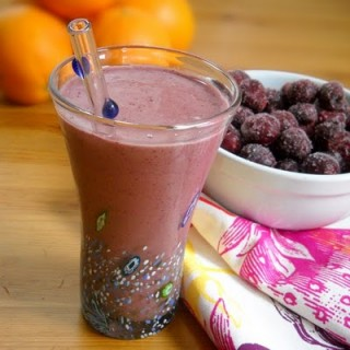 Cherry-licious Smoothies made with date sweetened nut milk