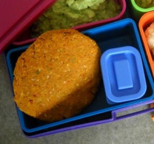Packing a Healthy School Lunch with Teriyaki Veggie Cakes