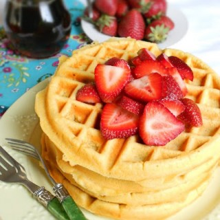 Gluten Free Waffles made with Quinoa and Coconut