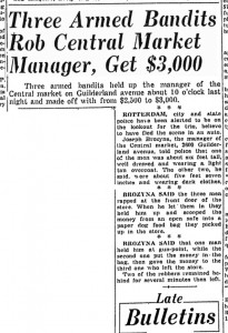 Central Market robbery 1952