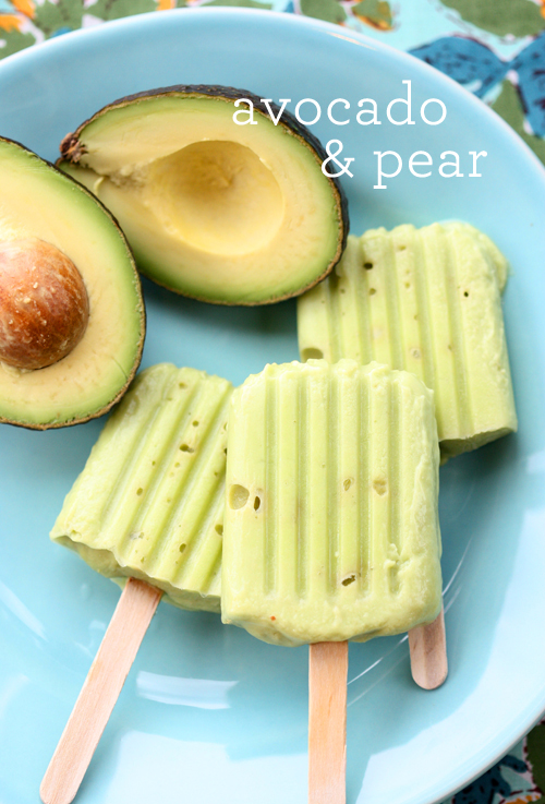 Avocado and Pear Baby Food Pops