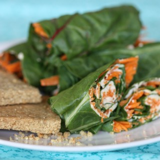 Chard Wraps with Cashew Cheese