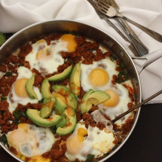 Chorizo and Eggs with Avocado