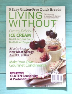 Living Without Magazine Article & Cover