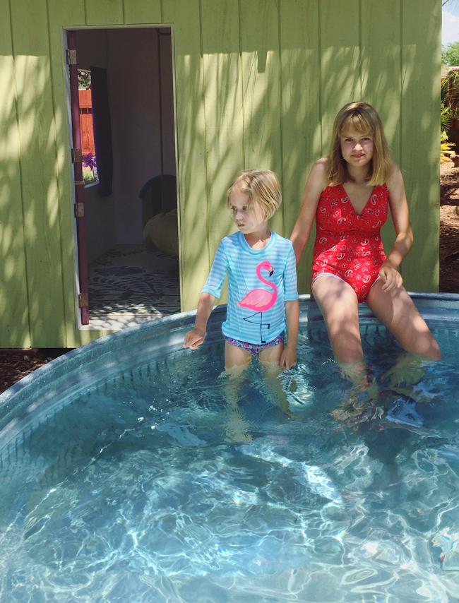 Stock tank pool diy the spunky coconut - How to filter a stock tank swimming pool ...